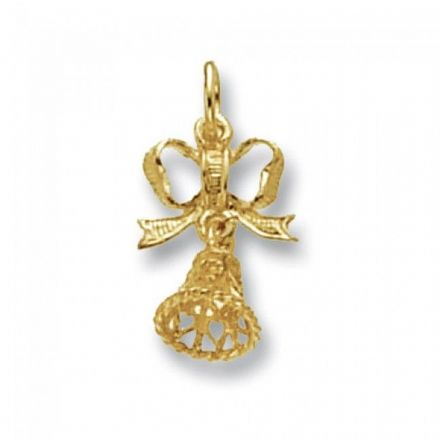 Yellow Gold Pendants -Bow & Bell, PN476